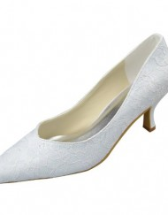 Minitoo-GYAYL270-Womens-Kitten-Heel-Closed-Toe-White-Lace-Evening-Party-Bridal-Wedding-Shoes-Pumps-7-M-UK-0