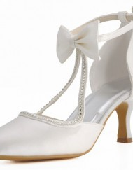 Minitoo-Womens-Round-Toe-Kitten-Heel-T-Strap-Bridal-Wedding-Ivory-Satin-Buckle-Pump-Shoes-11-M-UK-0