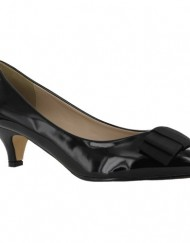 New-Ladies-Kitten-Low-Heel-Office-Work-Pointed-Toe-Court-Shoes-UK-3-4-5-6-7-8-Black-Patent-UK-Size-6-0