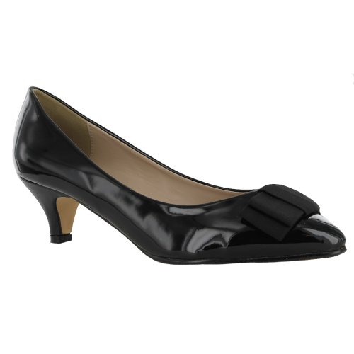 Ladies Black Kitten Heel Shoes