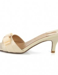 SEXYHER-Womens-Beige-Bowknot-Paint-Kitten-Heels-Slipper-2.6-Inches-Fashion-Shoes-SHOLSDN-1470-0