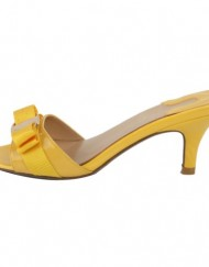 SEXYHER-Womens-Yellow-Bowknot-Paint-Kitten-Heels-Slipper-2.6-Inches-Fashion-Shoes-SHOLSDN-1469-0