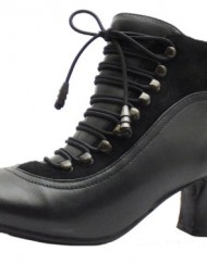 Size-6-Womens-Vivianna-Hush-Puppies-Black-Zip-Up-Leather-High-Heel-Shoe-Boots-0