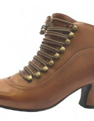 Size-7-Womens-Vivianna-Hush-Puppies-Brown-Zip-Up-Leather-High-Heel-Shoe-Boots-0