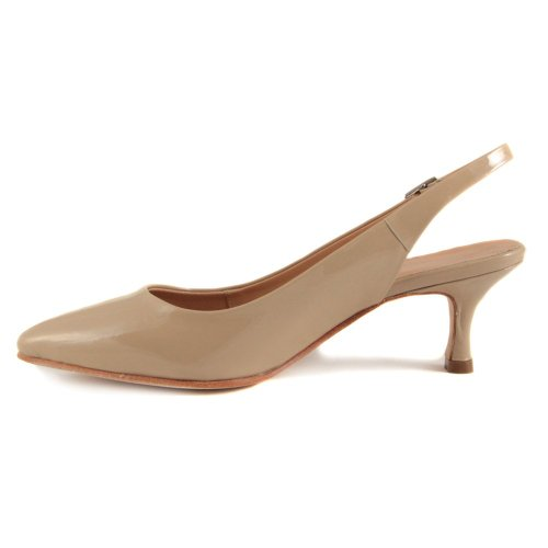 Vanilla Moon Abina Beige Patent Kitten Heel Court Shoe UK 5 – EU ...