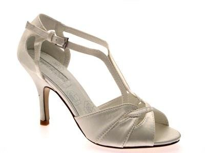 WOMENS T BAR GLITTER SATIN STRAPPY STILETTO HIGH HEELS BRIDAL PROM ...
