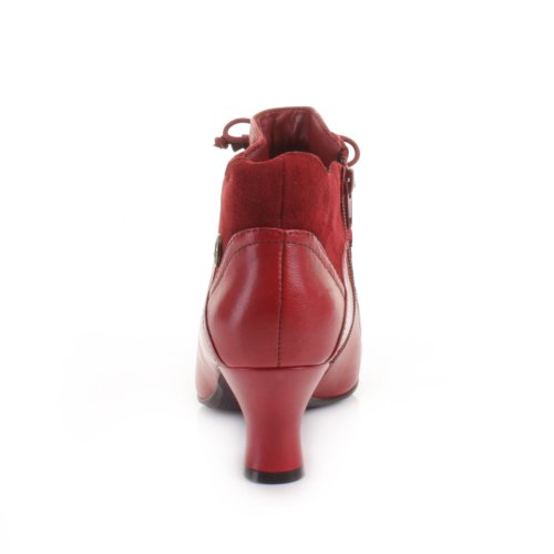 Womens-Hush-Puppies-Red-Vivianna-Leather-Boots-SIZE-5-2