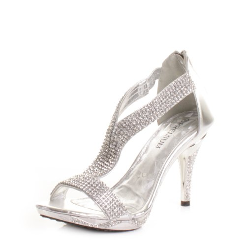 6e0a6f7fe3 Womens Mid Heel Diamante Embellished Sandals Shoes SIZE 8 | Elegant ...