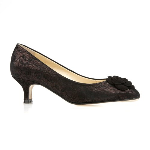Elveden-Womens-Dress-Court-Shoes-Black-Lace-7-0