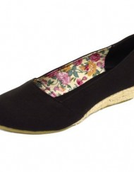 Ladies-Black-Canvas-Summer-Slip-On-Hessian-Wedge-Kitten-Heel-Pumps-Shoes-Sizes-3-8-0