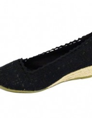 Ladies-Black-Crochet-Summer-Slip-On-Hessian-Wedge-Kitten-Heel-Pumps-Shoes-Sizes-3-8-0