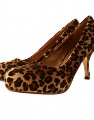 Ladies-TRUFFLE-Leopard-Animal-Print-Faux-Suede-Mid-Kitten-Heel-Court-Shoes-4-0