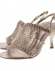 Ladies-TRUFFLE-Silver-Diamante-Kitten-Heel-Evening-Bridal-Sandal-Shoes-7-0