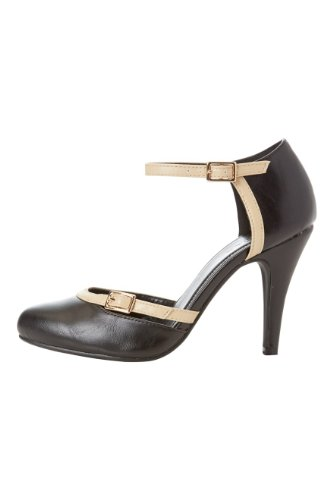 Roman-Originals-Womens-Footwear-Ankle-Strap-Court-Shoe-Round-Toe-Heeled-Court-Shoe-Classic-Stylish-Closed-Toe-Open-Sides-Comfortable-Casual-Smart-Office-Work-Wear-Party-Going-Out-Special-Occasion-Everyday-Day-Matte-Ladies-Shoes-Black-Size-6-1