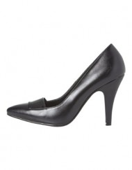 Roman-Originals-Womens-Footwear-Patent-Detail-Court-Shoe-High-Mid-Heel-Pointed-Plain-Smart-Office-Work-Going-Out-Occasion-Evening-Ladies-Shoes-Black-Size-6-0