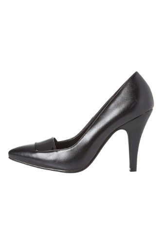 Roman-Originals-Womens-Footwear-Patent-Detail-Court-Shoe-High-Mid-Heel-Pointed-Plain-Smart-Office-Work-Going-Out-Occasion-Evening-Ladies-Shoes-Black-Size-6-1