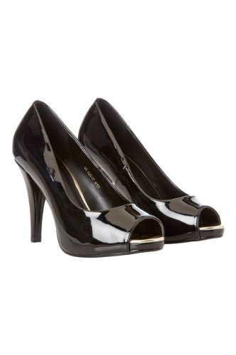 Roman-Originals-Womens-Footwear-Patent-Platform-Peep-Toe-Shoes-Pointed-Toe-Heeled-Court-Platform-Shoe-Classic-Stylish-Comfortable-Peep-Toe-Smart-Office-Work-Wear-Party-Going-Out-Special-Occasion-Shiny-Patent-Ladies-Shoes-Black-Size-6-0