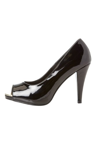 Roman-Originals-Womens-Footwear-Patent-Platform-Peep-Toe-Shoes-Pointed-Toe-Heeled-Court-Platform-Shoe-Classic-Stylish-Comfortable-Peep-Toe-Smart-Office-Work-Wear-Party-Going-Out-Special-Occasion-Shiny-Patent-Ladies-Shoes-Black-Size-6-1
