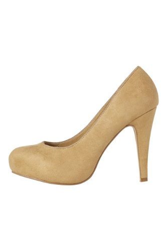 Roman-Originals-Womens-Footwear-Platform-Court-Shoe-High-Mid-Heel-Plain-Court-Shoe-Hidden-Platform-Closed-Toe-Round-Toe-Comfortable-Smart-Office-Work-Wear-Party-Going-Out-Evening-Occasion-Ladies-Shoes-Beige-Cream-Size-5-0