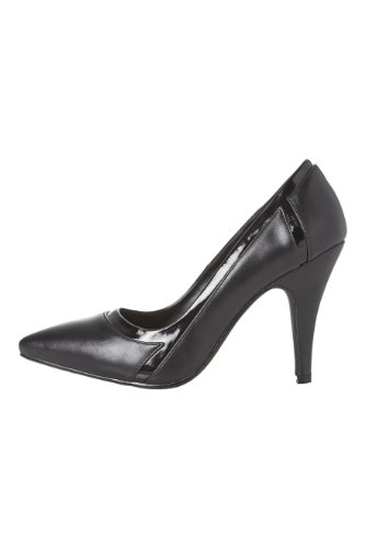 Roman-Originals-Womens-Footwear-Tonal-Pointy-Shoe-Mid-High-Heel-Court-Shoe-Plain-Pointed-Toe-Office-Work-Evening-Occasion-Going-Out-Ladies-Shoes-Black-Size-6-0