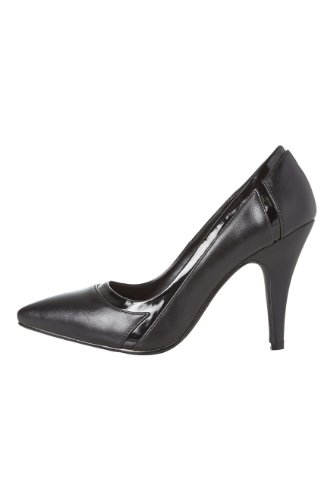 Roman-Originals-Womens-Footwear-Tonal-Pointy-Shoe-Mid-High-Heel-Court-Shoe-Plain-Pointed-Toe-Office-Work-Evening-Occasion-Going-Out-Ladies-Shoes-Black-Size-6-1