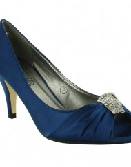 New-Ladies-Bridal-Wedding-Prom-Party-Kitten-Low-Heel-Peep-Toe-Diamante-Satin-Court-Sandals-UK-Size-3-4-5-6-7-8-Blue-UK-Size-6-0