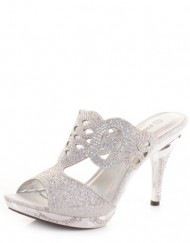 Womens-Cut-Out-Diamante-Mules-Party-Wedding-Shoes-SIZE-5-0