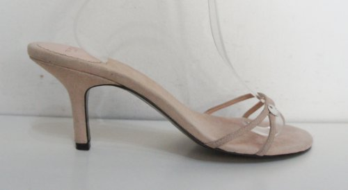 TED BAKER Nude Pink Suede Leather Open Shoes Sandals – Size 7 ...