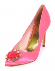 Ted-Baker-Womens-Torela-Satin-Jewel-Encrusted-High-Heel-Court-Shoe-Pink-Size-6-0