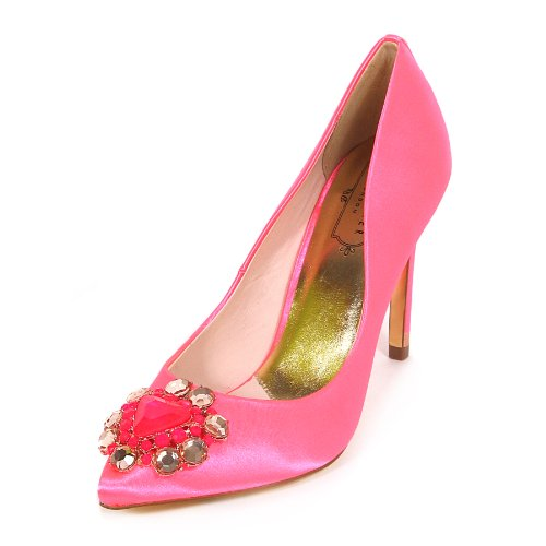 168bc4ea814 ... Heel Court Shoe Pink Size 6. Ted-Baker -Womens-Torela-Satin-Jewel-Encrusted-High-