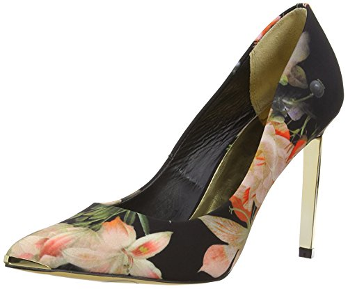 Ted-Baker-Womens-Saeber-Court-Shoes-9-13672-Black-Multi-6-UK-39-EU-0