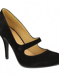 LADIES-WOMENS-LOW-MID-HIGH-HEEL-ANKLE-STRAP-COURT-SHOES-WORK-PUMPS-SANDALS-SIZE-UK-7-Black-Suede-0