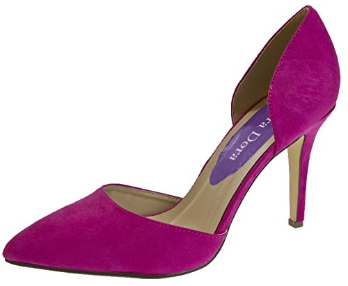 Lora-Dora-Womens-Faux-Suede-Stiletto-High-Heels-Open-Sided-Dorsay-Court-Shoes-Ladies-Size-UK-3-8-0
