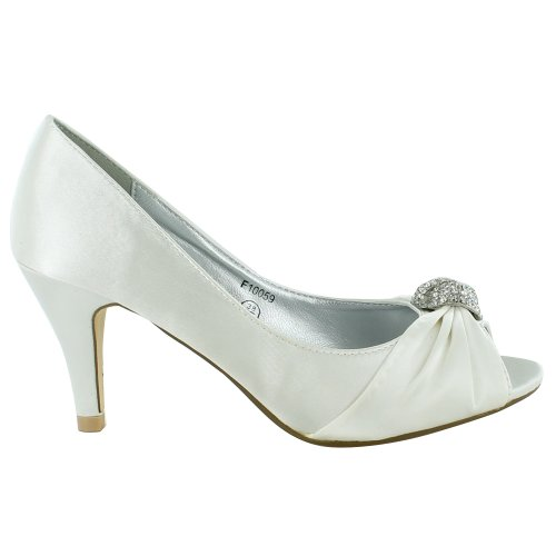 New-Ladies-Bridal-Wedding-Prom-Party-Kitten-Low-Heel-Peep-Toe-Diamante-Satin-Court-Sandals-UK-Size-3-4-5-6-7-8-White-UK-Size-5-1
